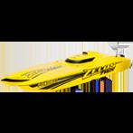 Fjernstyret el-drevet båd